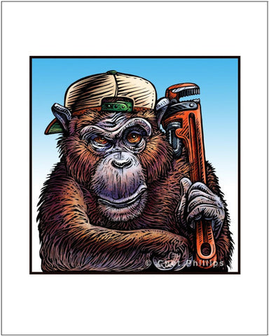 "Monkey Wrench- 8"" x 10"" print"