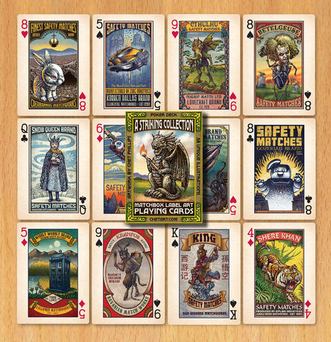 A Striking Collection: Matchbox Label Art Playing Cards