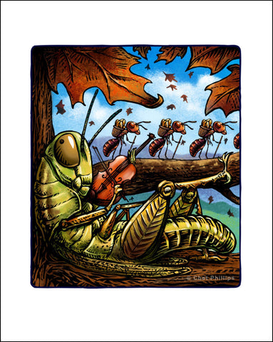 "Grasshopper And The Ants- 8 x 10"" print"