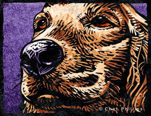 "Golden Retriever 8 x 10"" print"