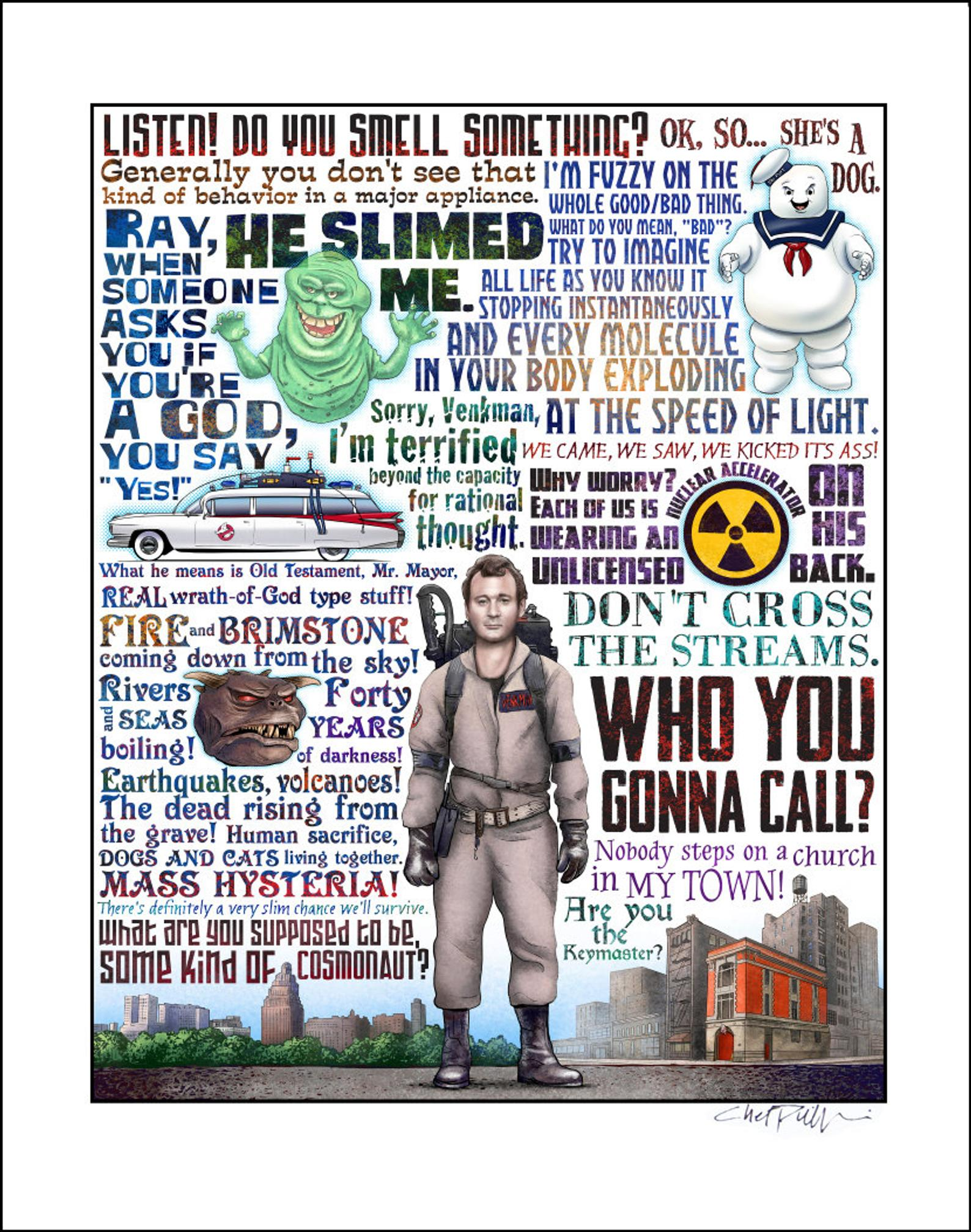 "Ghostbusters Tribute- 11"" x 14"" print"