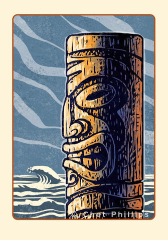 "Ancient Tiki- 8"" x 10"" print"