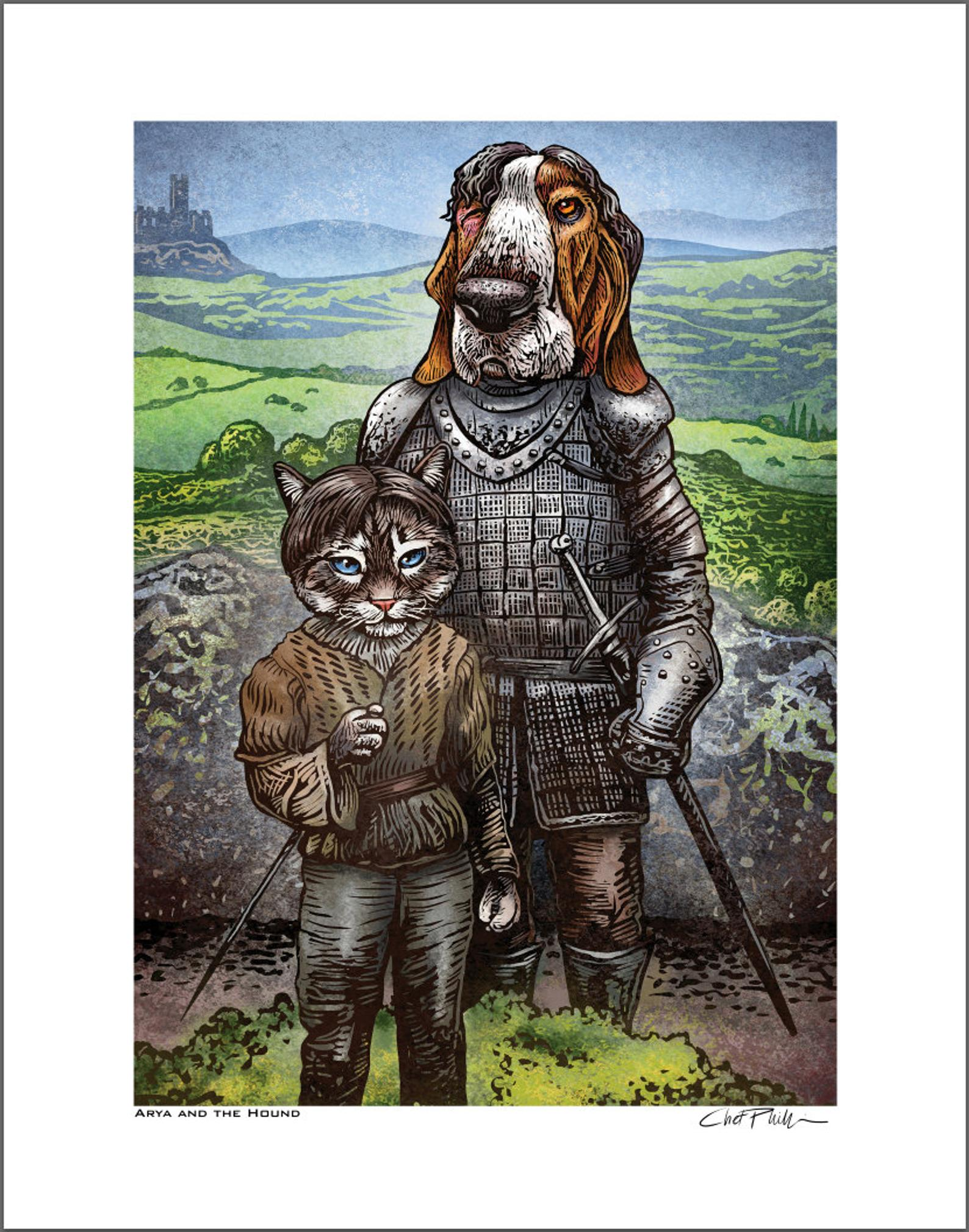 "Arya & The Hound 8 x 10"" print"