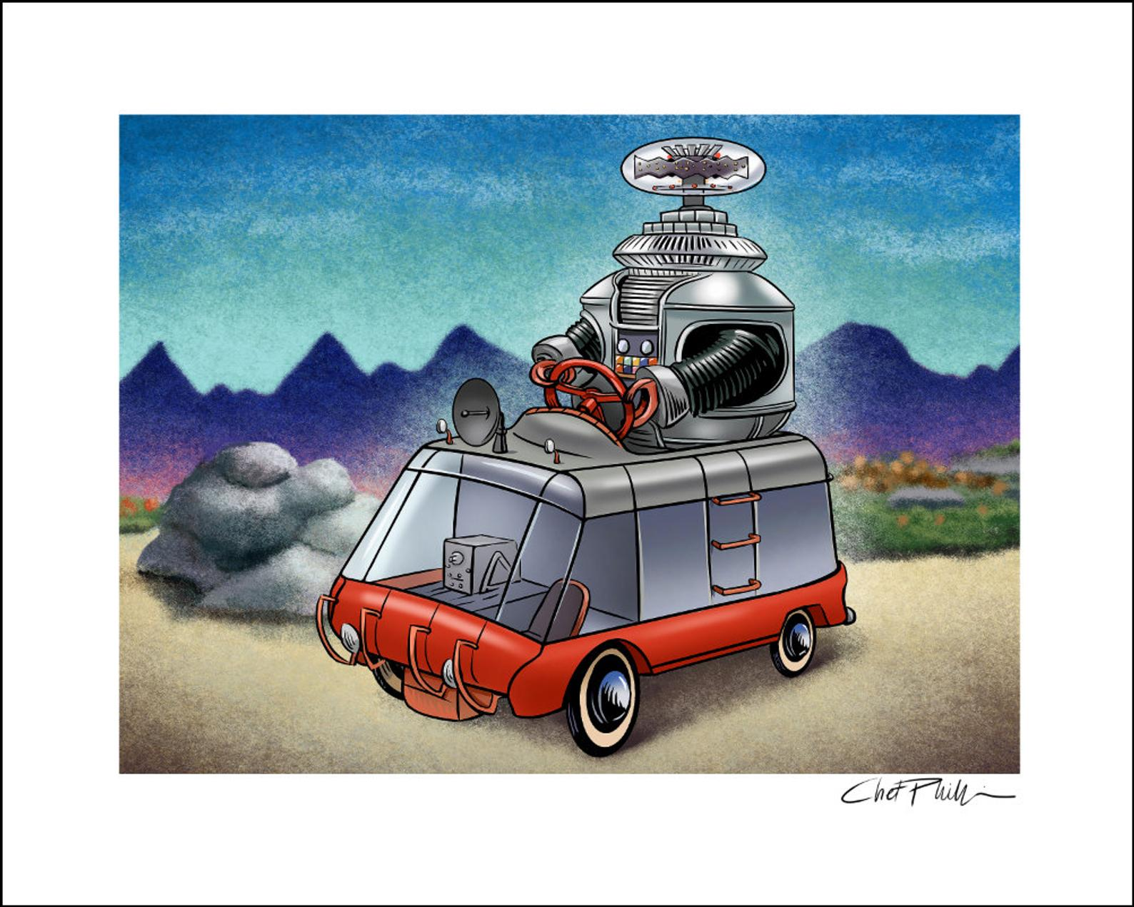 Lost in Space Pedal Car 8 x 10 print
