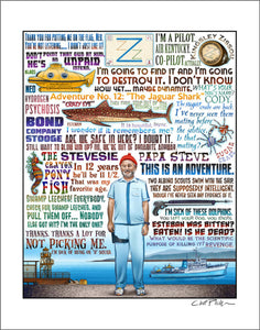 "The Life Aquatic Tribute- 11"" x 14"" print"