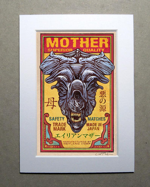 "Mother Brand 5"" x 7"" matted Matchbox print"