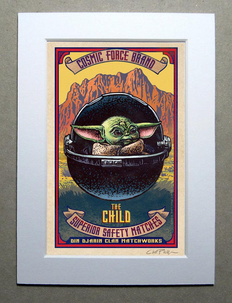 "The Child Brand 5"" x 7"" matted Matchbox print"