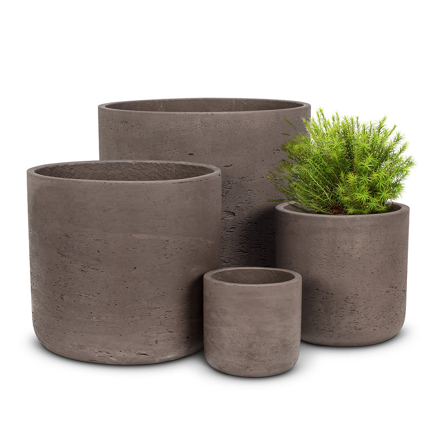 Large Brown Concrete Plant Pot - 10