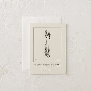 There's a Time For Everything Letterpress Card