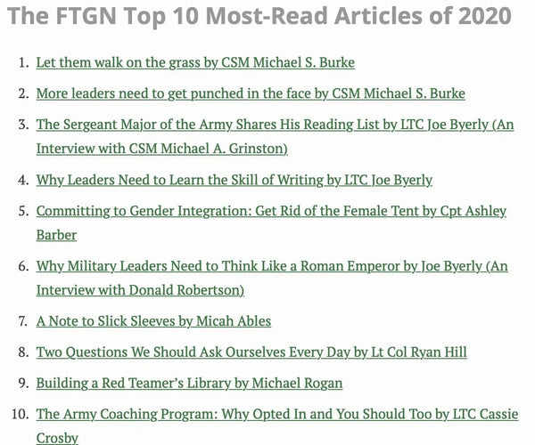 Top 10 - From the Green Notebook