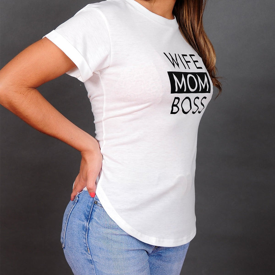 WIFE MOM BOSS (white)