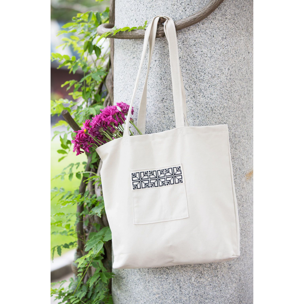 Cream Fabric Market Tote Bag