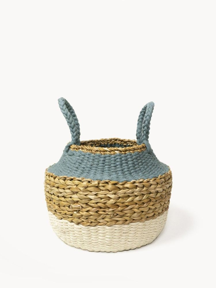 Ula Blue Foldable Basket