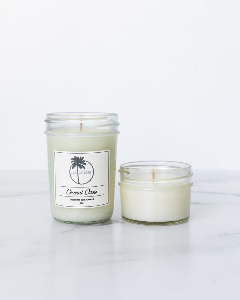 Coconut Oasis Scent Coconut Wax Candle