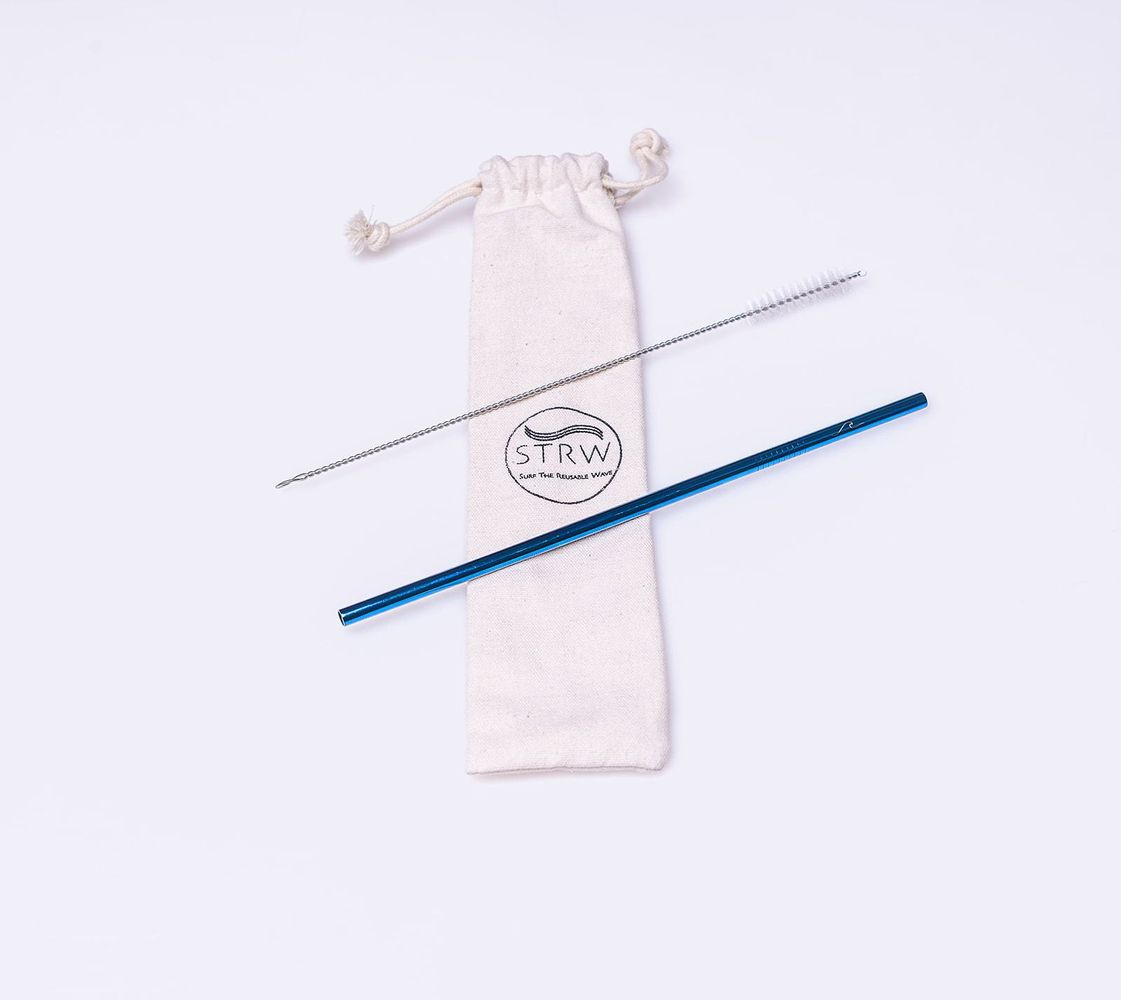 Reusable Straight Stainless Steel Straw