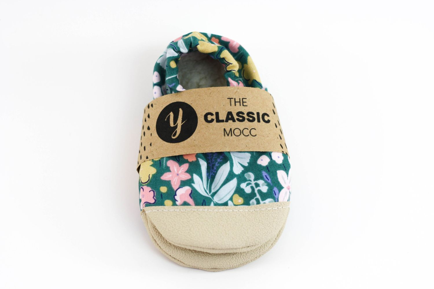 Non-Slip Forest Floral Yeti Moccs