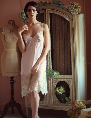 Gatsby silk and lace slip