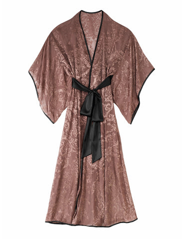 Andromeda sheer velvet-effect robe