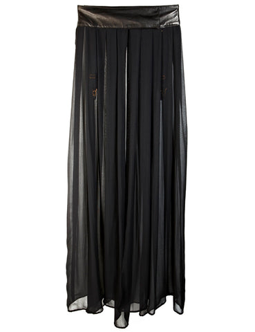 Ava leather maxi skirt