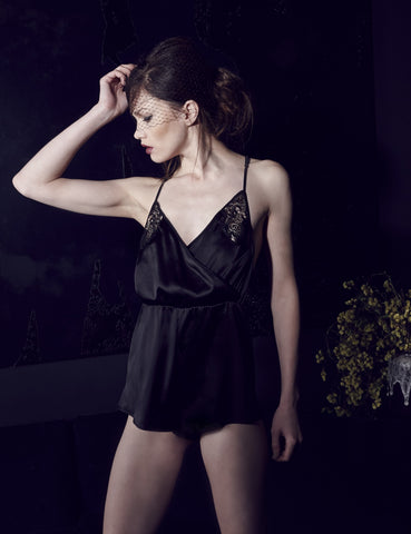 After Dark silk bodysuit