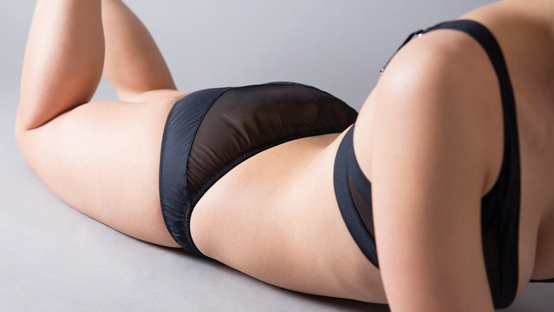 Angled silk and cotton knicker