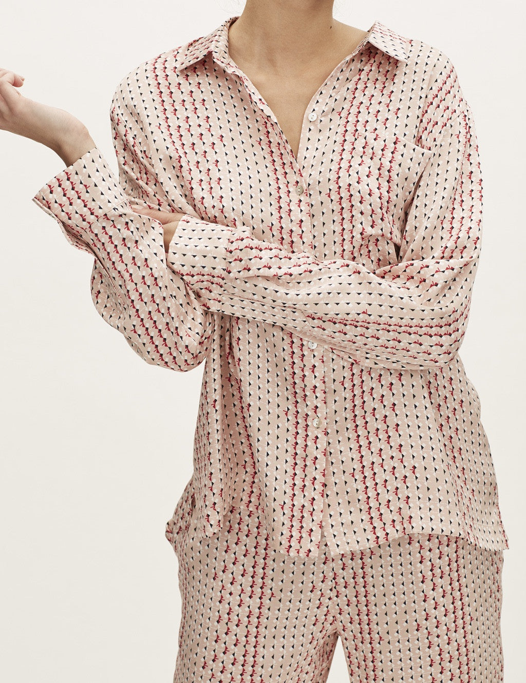 Blush Prism modern pj top