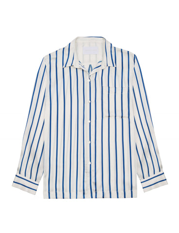 Dutch Blue Stripe modern pj top
