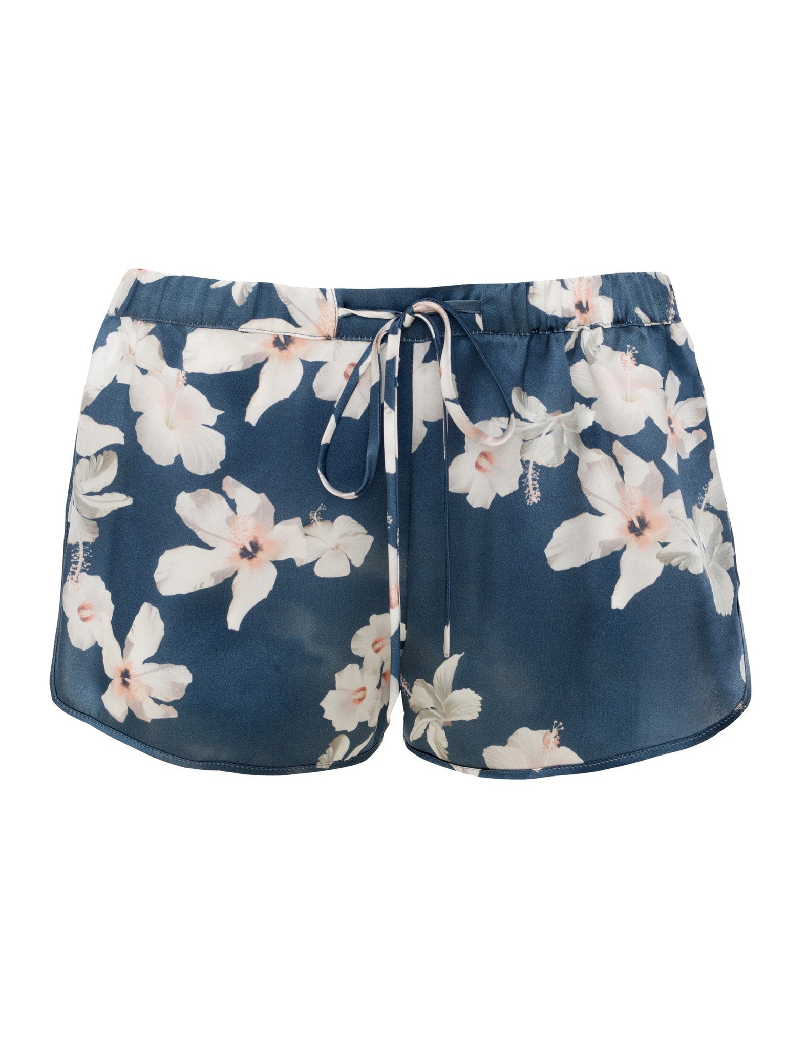 Hibiscus silk shorts