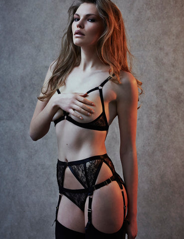 Annabel lace harness bra