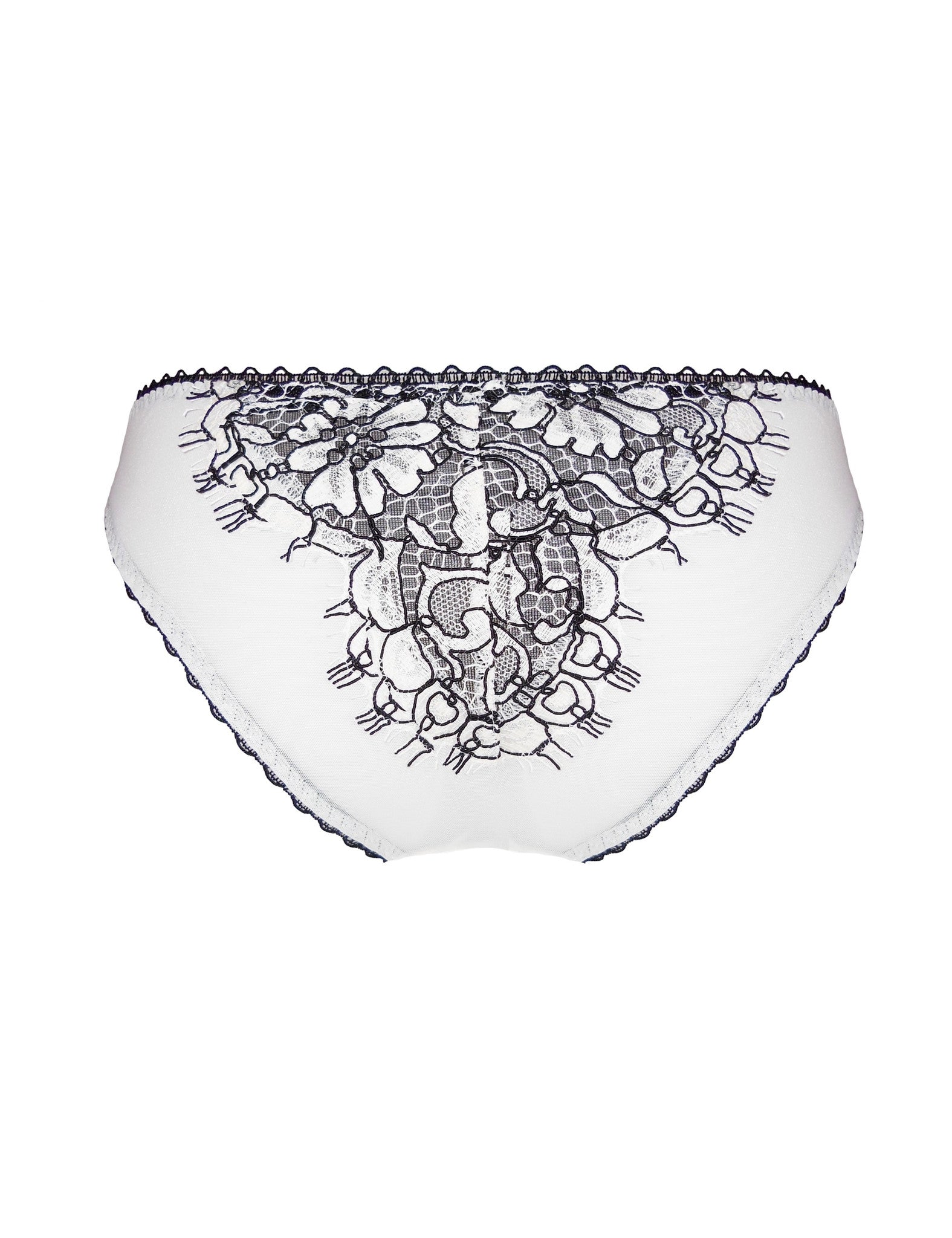 Lysander leather and lace brief