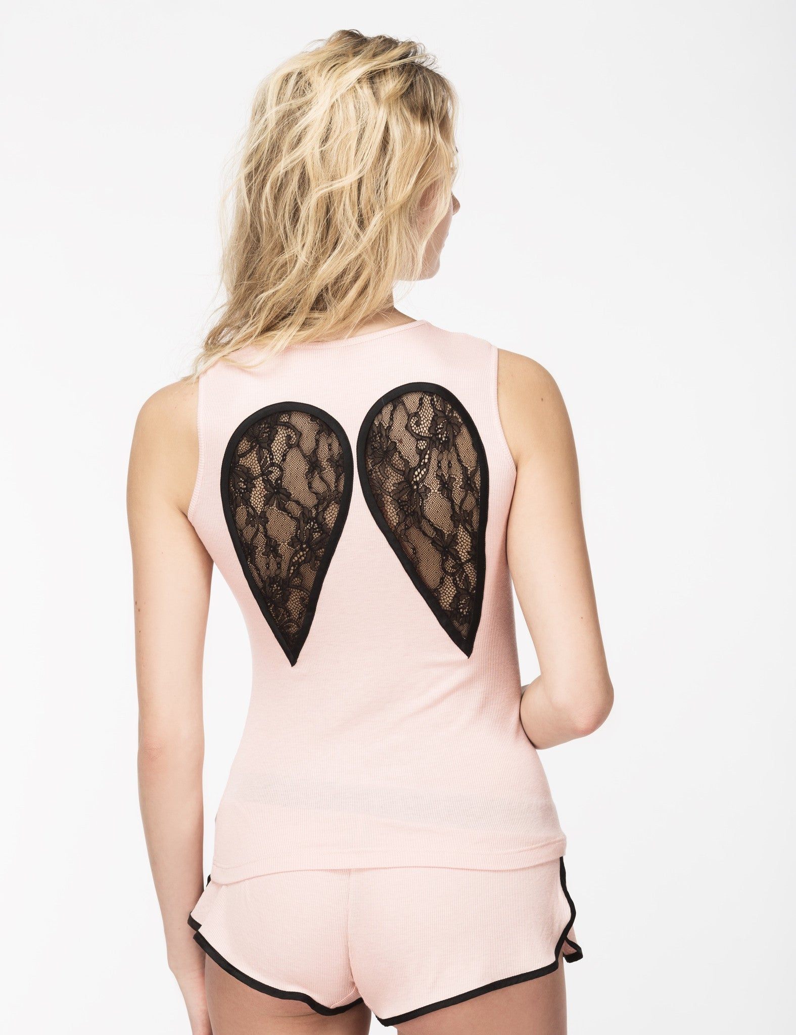 Wings pink tank top