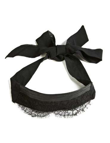 Annabel leather and lace blindfold