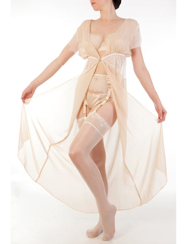Eleanor Almond georgette robe