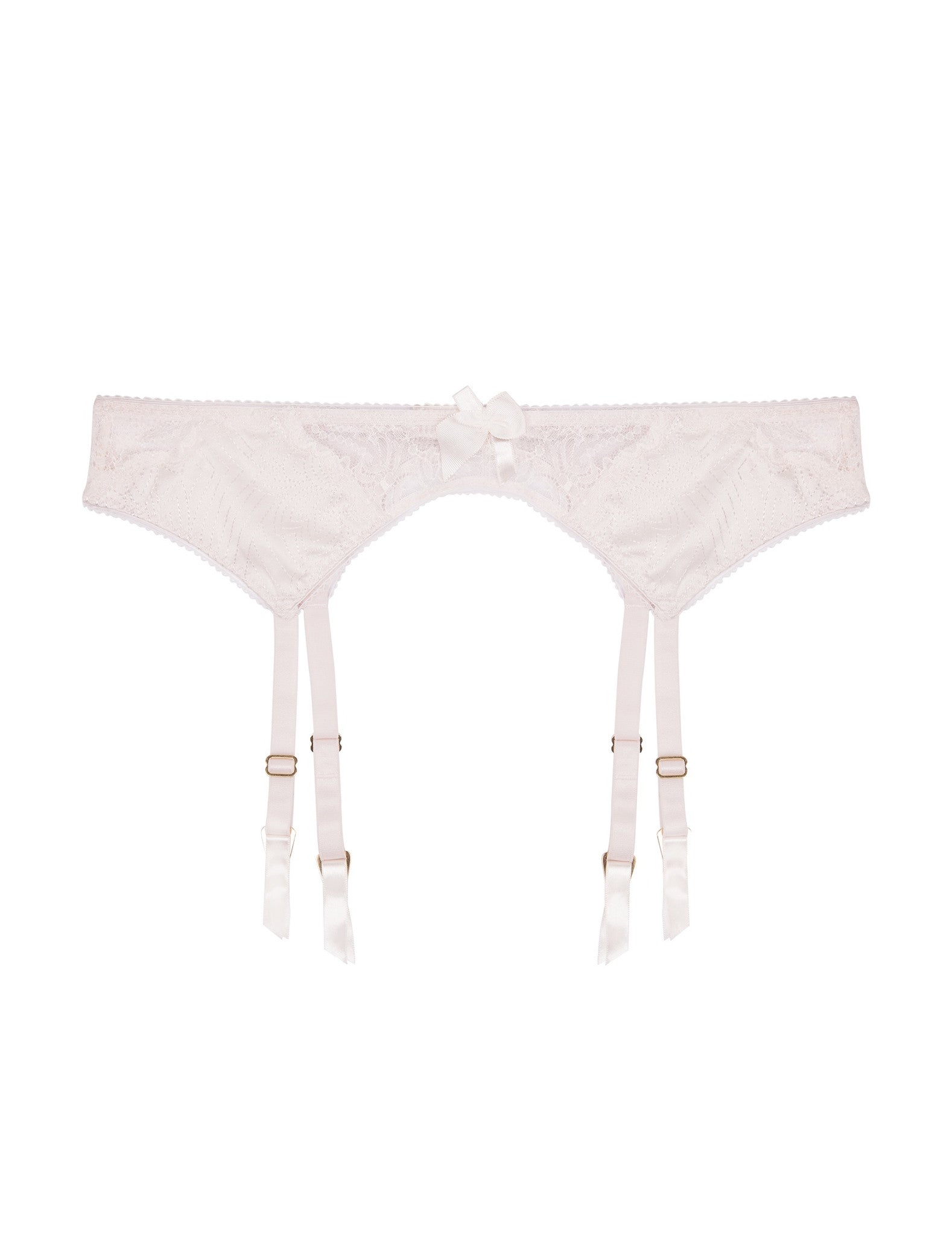 Mia Loving silk and lace suspender belt
