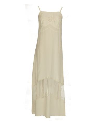 Cocktail Party silk long gown