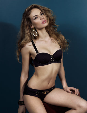 Bond-Age underwired-cup bikini top with multiway straps