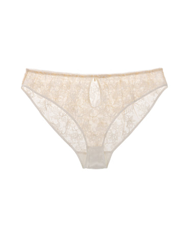 Serena Ivory embroidered classic brief