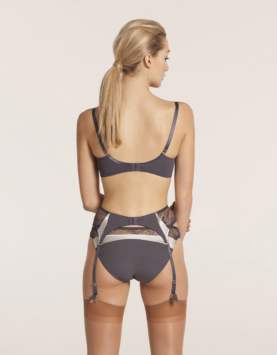Queenie brief with mesh and silk inserts