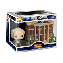 Load image into Gallery viewer, Funko POP! Town Back to the Future Vinyl Figure - Doc w/Clock Tower