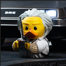 Load image into Gallery viewer, Back to the Future Doc Brown TUBBZ Cosplaying Duck Collectible [PRE-ORDER: Available late December 2020!]