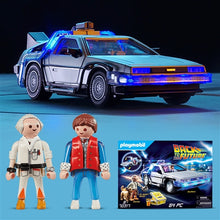 Load image into Gallery viewer, Back to the Future Playmobil 64-piece DeLorean playset