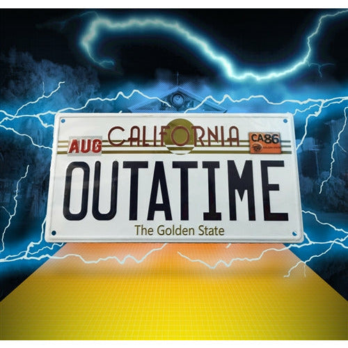 Back to the Future OUTATIME License Plate Wall Plaque