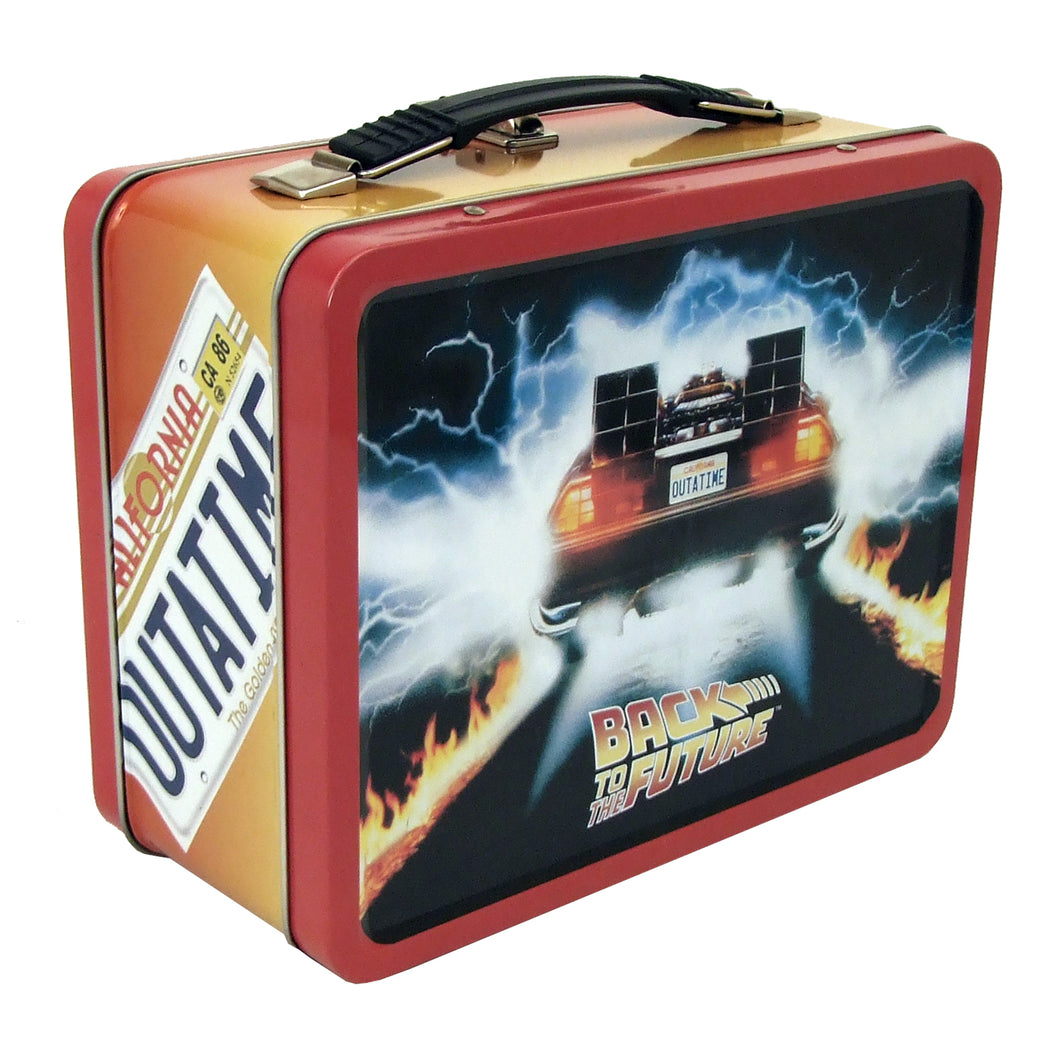Back to the Future OUTATIME Retro Style Tin Tote / Lunch Box