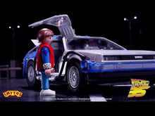 Load and play video in Gallery viewer, Playmobil Back to the Future 64-piece DeLorean playset with 3 vinyl figures