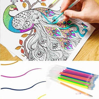 12pcs/lot Multi Color Rainbow Refill Highlighters Gel Pen Ball Point Pen Students Painting Graffiti Fluorescent Refill