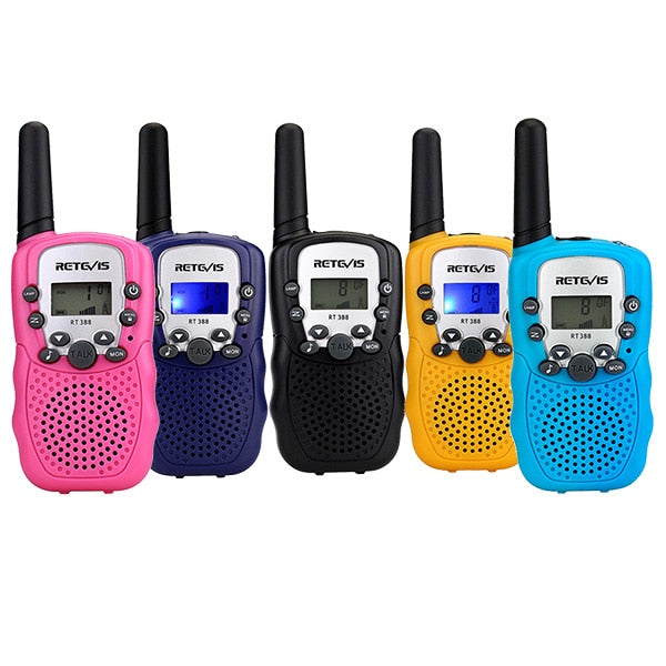 RETEVIS RT388 Walkie Talkie Children Walkie-talkies 2 pcs Two-Way Radio Station PMR New Year Gift/Family Use/Camping 100-800M