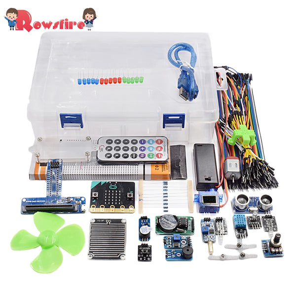 Rowsfire 1 Set Microbit Graphical Programming Starter Sensor Kit For Children Adult Creative Gifts