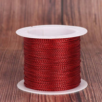 20 Meters 1mm Rope Gold/Silver/Red Cord Thread Cord String Strap Ribbon Rope Tag Line Bracelet Making No-slip Clothing Gift