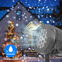 LED Stage Lights LED snowflake light white snowstorm projector Christmas atmosphere holiday family party special lamp