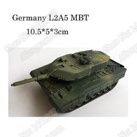 1pcs 1:72 4D Plastic Assemble Tank Kits World War II Model Puzzle Assembling Military Sand Table Toys For Children